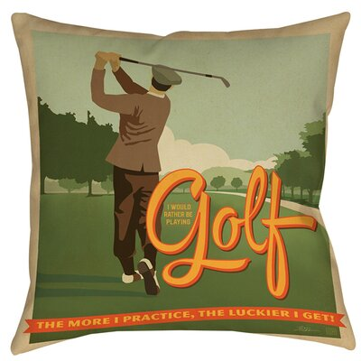 Golf Bad Day Indoor/Outdoor Throw Pillow Size: 16 H x 16 W x 4 D