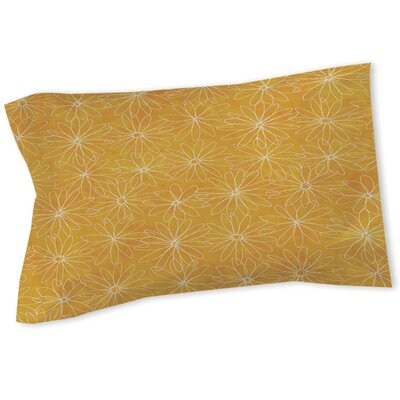 Funky Florals Daisy Sketch Sham Color: Sunset, Size: Queen/King