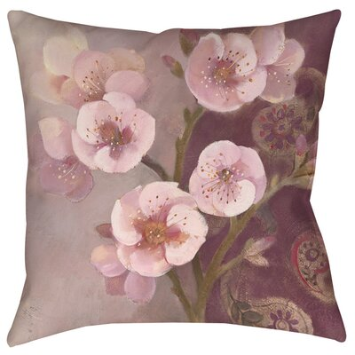 Gypsy Blossom 2 Indoor/Outdoor Throw Pillow Size: 16 H x 16 W x 4 D