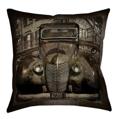 Old New York Printed Throw Pillow Size: 26 H x 26 W x 7 D