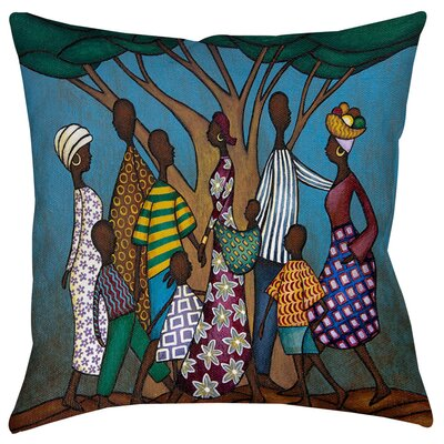 Family Tree Indoor/Outdoor Throw Pillow Size: 16 H x 16 W x 4 D