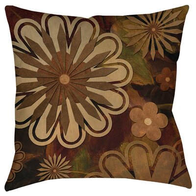 Floral Abstract I Indoor/Outdoor Throw Pillow Size: 16 H x 16 W x 4 D