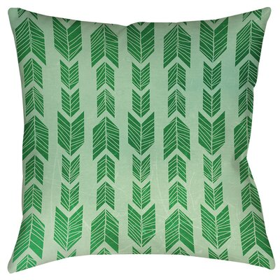 Lucina Indoor/Outdoor Throw Pillow Size: 18 H x 18 W x 5 D, Color: Green