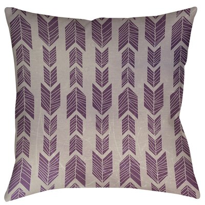 Featherwood Indoor/Outdoor Throw Pillow Size: 18 H x 18 W x 5 D, Color: Purple