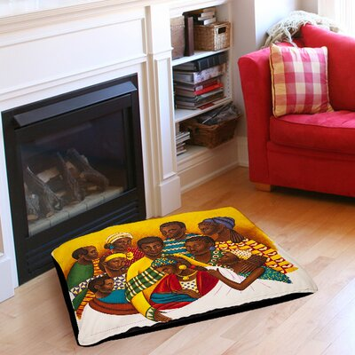 Family Photo Pet Bed Size: 50 L x 40 W