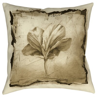 Floral Impression 9 Printed Throw Pillow Size: 16 H x 16 W x 4 D