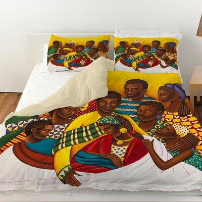 Family Photo Duvet Cover Size: Queen