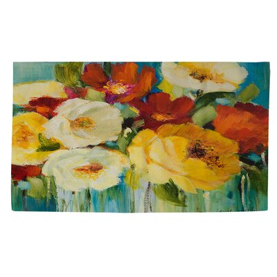 Flower Power 1 Area Rug Rug Size: 2 x 3