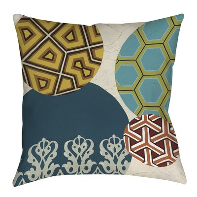 Paper Lanterns 2 Printed Throw Pillow Size: 16 H x 16 W x 4 D