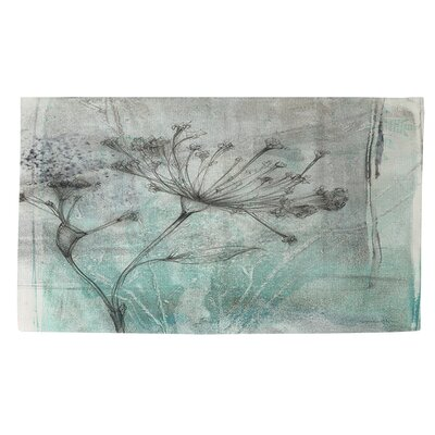 Ombre Wildflowers 1 Blue/Grey Area Rug Rug Size: 2 x 3