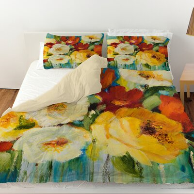 Flower Power 1 Duvet Cover Size: Queen