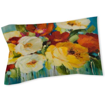 Flower Power 1 Sham Size: Queen/King