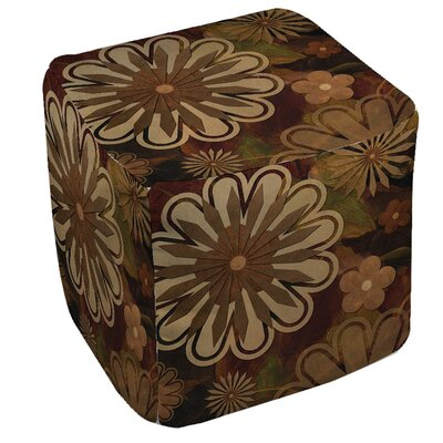 Floral Abstract 1 Pouf