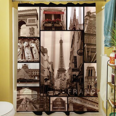 France Duvet Shower Curtain