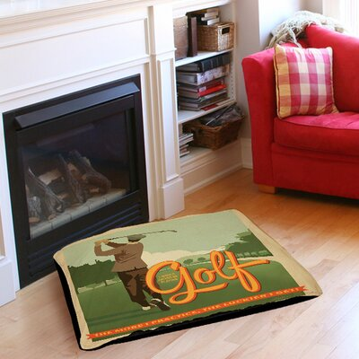 Golf Bad Day Pet Bed Size: 28 L x 18 W