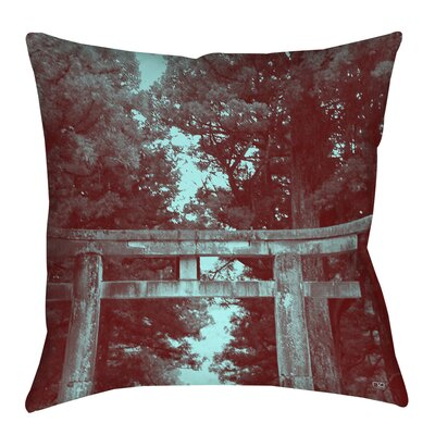 Nikko Gate Indoor/Outdoor Throw Pillow Size: 16 H x 16 W x 4 D