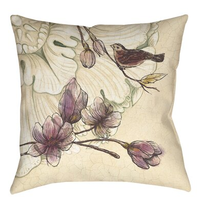 Rosette Bird Printed Throw Pillow Size: 16 H x 16 W x 4 D