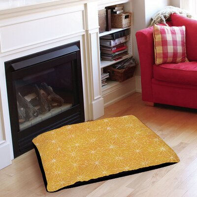Funky Florals Daisy Sketch Pet Bed Size: 28 L x 18 W, Color: Sunset