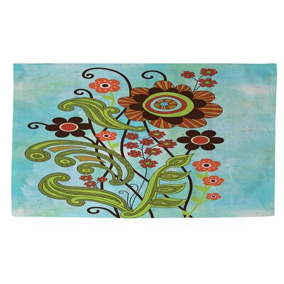 Flower Power Stems Area Rug Rug Size: 4 x 6