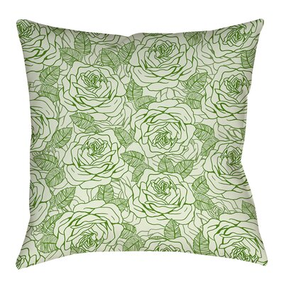 Rose Tonic Printed Throw Pillow Size: 16 H x 16 W x 4 D