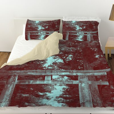 Nikko Gate Duvet Cover Size: Queen