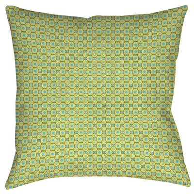 Rael Indoor/Outdoor Throw Pillow Size: 16 H x 16 W x 4 D, Color: Green