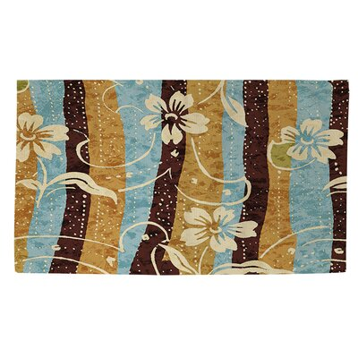 Floral Study in Stripes Area Rug Rug Size: 4 x 6
