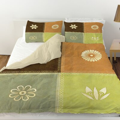 Graphic Garden Sage Duvet Cover Size: Twin