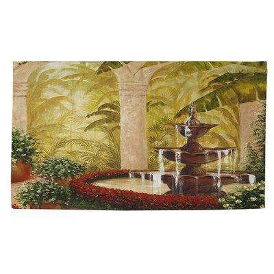 Palm Garden II Green Area Rug Rug Size: 2 x 3
