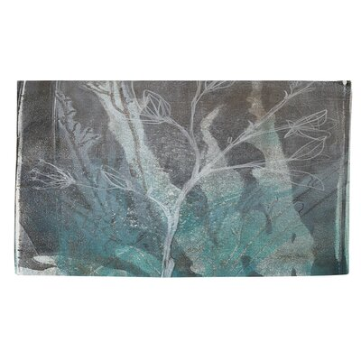 Ombre Wildflowers 4 Blue/Grey Area Rug Rug Size: 2 x 3