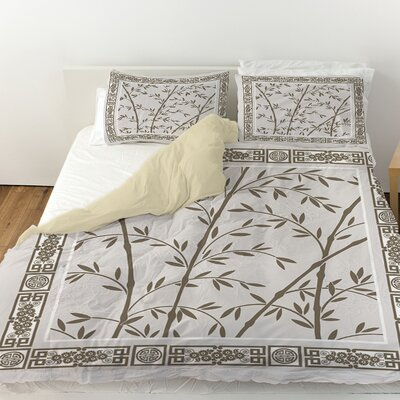 Oriental Treasure Duvet Cover Size: Queen