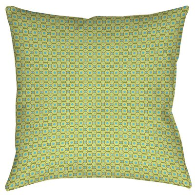 Funhouse Printed Throw Pillow Color: Green, Size: 14 H x 14 W x 3 D