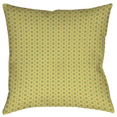 Funhouse Printed Throw Pillow Size: 14 H x 14 W x 3 D, Color: Tan
