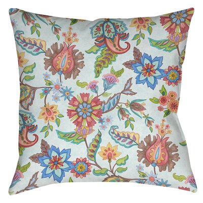 Shangri La Floral Printed Throw Pillow Size: 14 H x 14 W x 3 D, Color: Natural