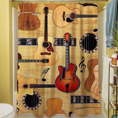 Guitar Collage Shower Curtain