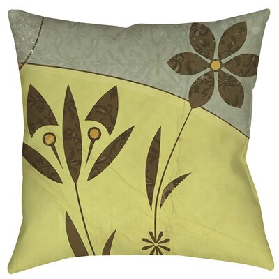 Graphic Garden Selene Indoor/Outdoor Throw Pillow Size: 16 H x 16 W x 4 D