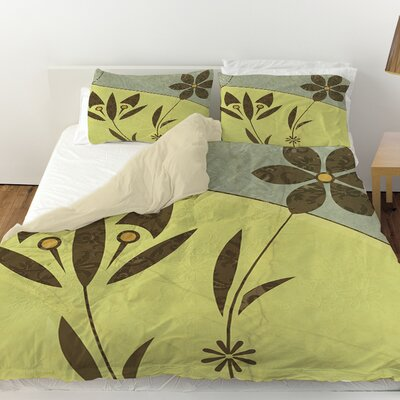 Graphic Garden Selene Duvet Cover Size: Queen