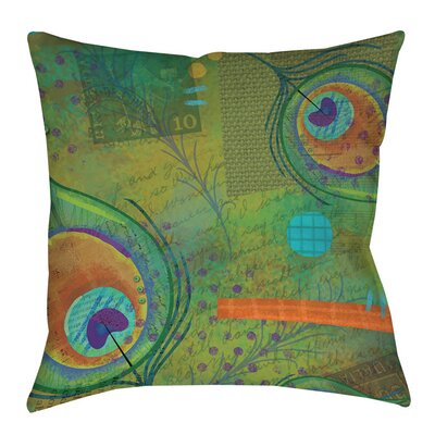Peacock Pattern 2 Printed Throw Pillow Size: 16 H x 16 W x 4 D