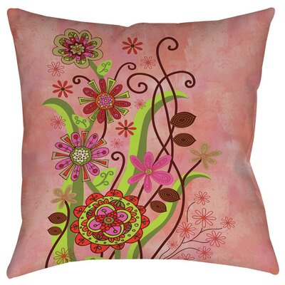 Flower Power Stems Indoor/Outdoor Throw Pillow Size: 20 H x 20 W x 5 D