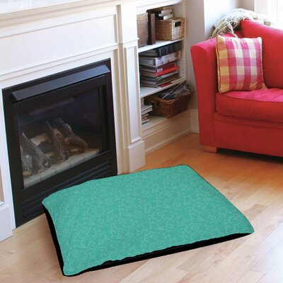 Flowing Damask Pet Bed Size: 28 L x 18 W