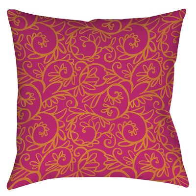 Funky Florals Swirl Pattern Printed Throw Pillow Color: Pink, Size: 20 H x 20 W x 5 D