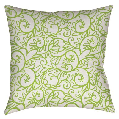 Sandefur Pattern Printed Throw Pillow Size: 18 H x 18 W x 5 D, Color: White
