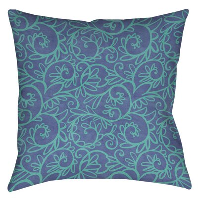Sandefur Pattern Printed Throw Pillow Size: 14 H x 14 W x 3 D, Color: Blue