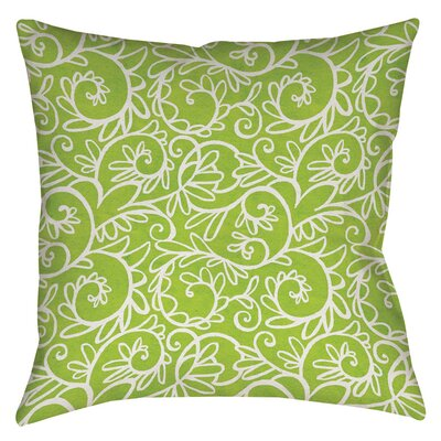 Funky Florals Swirl Pattern Printed Throw Pillow Size: 14 H x 14 W x 3 D, Color: Green
