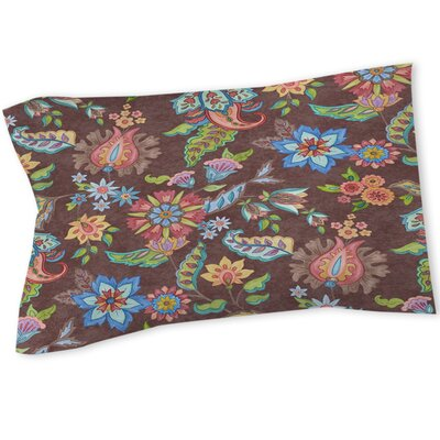 Shangri La Floral Sham Size: Queen/King, Color: Brown