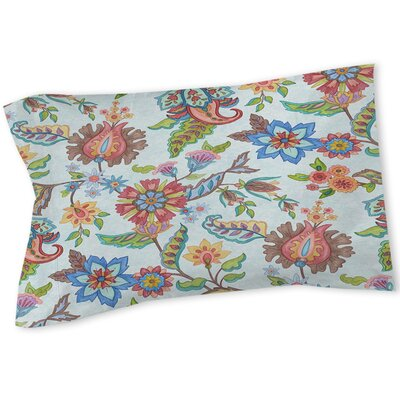 Shangri La Floral Sham Size: Queen/King, Color: Natural
