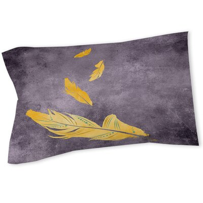 Feather Float Sham Size: Queen/King, Color: Gold