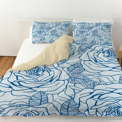 Rose Tonic Duvet Cover Size: King