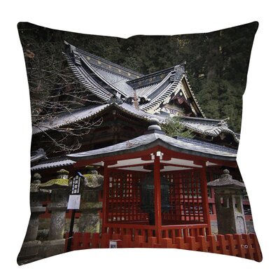 Nikko Monastery Building Printed Throw Pillow Size: 16 H x 16 W x 4 D