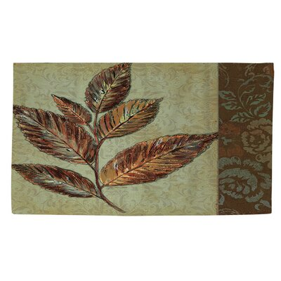 Golden Leaf 1 Area Rug Rug Size: 2 x 3